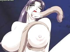 Anime whore gets double penetrated