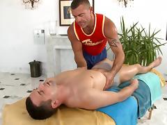 Deep blowjob for gay boy