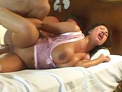Ava Devine's giant tits bounce as he mounts his cock
