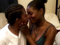Lovely hot ass ebony hotties in a nasty lesbian fuck scene