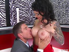 Red lipstick is super hot on Christy Mack in a hot anal video