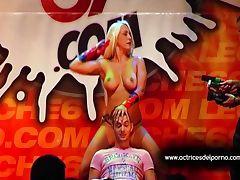 Jenny One strip show in erotic festival