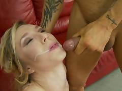 Insatiable blonde feels so slutty that she needs three dicks inside