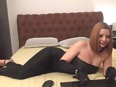 black shiny leggings -bymonique