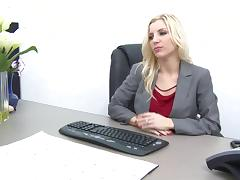 Ashley Fires is a very naughty boss in the mood to fuck an employee