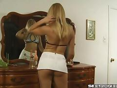 She oils up that ass and pussy so she can fuck them with her toy