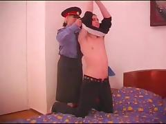 Blonde cop is in need of a thorough pussy pounding