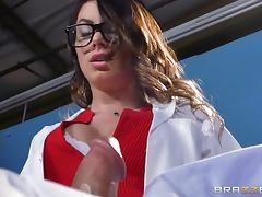 lusty doctor can't help seducing patient