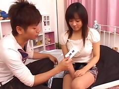 Hairy Asian girl gets that big muff filled with some stiff dick
