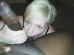 Freshly married white lady blowing BBC