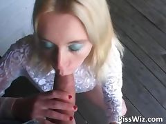 Blonde slut lies and waits