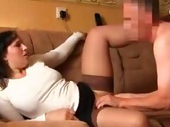 Busty MILF cheating husband