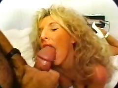 Classic Blonde Busty Cougar Banging in High Heels