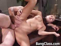Principal fucks a sexy schoolgirl