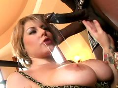 Wild lingerie-clad cougar with a hairy pussy enjoying a mind-blowing interracial fuck
