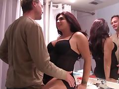 Shemale humbles her big cock as she gets her anal bonked hardcore