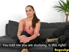Amateur euro doggystyled in office casting