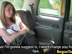 Brit taxi babe fucked through sluthatch