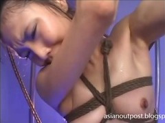 Flat chested chick tied and tortured