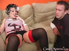 Riding the black cock is what this housewife likes the most!