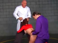 Emily Addison and Paris Kennedy get fucked in a fightclub