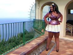 Busty Electric Love Lady - Blowjob Handjob in the Garden - Cum on my Tits