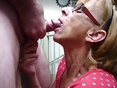 Grandma gets facial