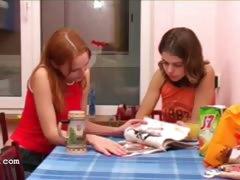 Masha and Ivana teenies peeing on toilet