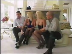 Horny blondes fucking in group
