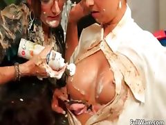 Nasty brunette whores go crazy rubbing part6