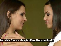 Sascha and Daphne stunning lovely lesbians licking