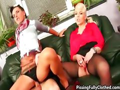 Hot blonde and brunette whores go crazy part3