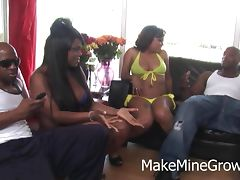 Chubby Ebony Want A Group Sex