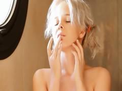 Shaving of lovely 18yo blonde pussy