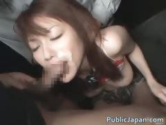 Akari Hoshino Asian doll gets a facial