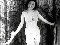 Mature Lady Strips on the Stage 1940