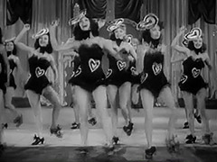 Burlesque Girls Dance on Stage 1940