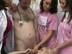 CFNM ladies getting free facial cum