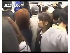 japanese schoolgirl creampie fucked in train