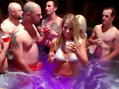 Hot tub orgy party