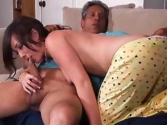 Jennifer White sucks big cock