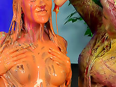 Colorful goo coats these hotties