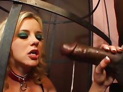 Bree Olsen getting assfucked in a cage