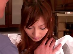 Kirara Asuka gets toyed with a cucumber and gets fucked
