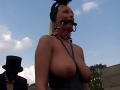 Blonde Fetish Slut Kathleen in bizzare Outdoors Scene