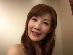 Kinky Japanese Erika Kirihara Giving a Blowjob in the Elevator