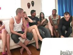 Interracial orgy featuring Oliver Strelly and Timo Hardy