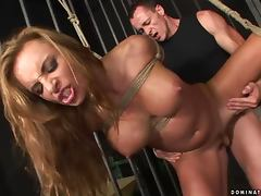 Bonny Bon the sweet girl gets fucked rough in BDSM video
