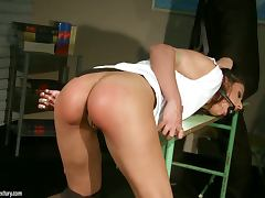 Dark Haired Doll Pretending She Doesn´t Like To Be Dominated