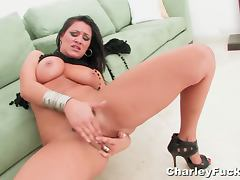 Charley chase fingering her horny pussy